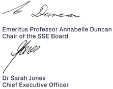SSE Chair and CEO Signatures